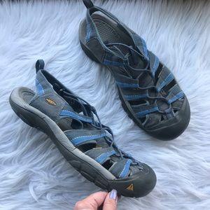 Keen Men's Gray Blue Newport H2 Waterproof Sandals